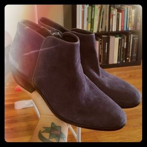 Navy suede Sam Edelman booties (Sz 6)